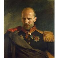 Яркий портрет по фото на холсте