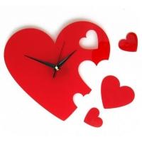 """Оригинальные настенные часы """"Сердца"""""""