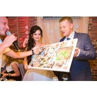 Коллаж из свадебных фотографий на холсте