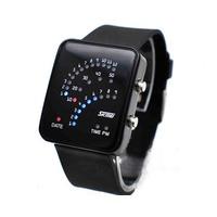 LED часы 3 дуги (Черный)