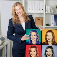 Поп-арт портрет по фото на холсте или 3D светильнике