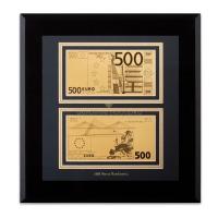 """""""Банкнота 500 Евро"""" Золото 24 карата"""