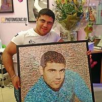 Фотомозаика в подарок парню