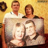 Мозаика из совместных фотографий в подарок на юбилей