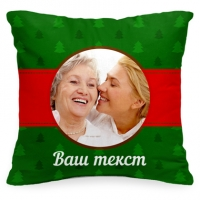 Новогодняя подушка с Вашим фото «Ёлочки»
