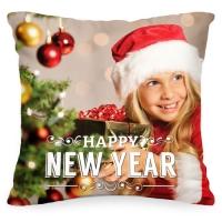Подушка с Вашим фото «Happy New Year»