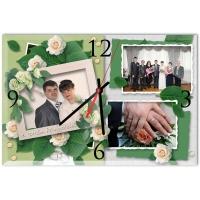 "Настенные часы ""Свадебный коллаж """