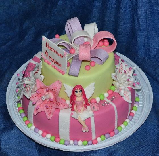 Торт в стиле Винкс