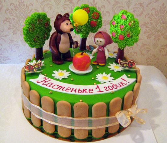 Торт Маша и Медведь