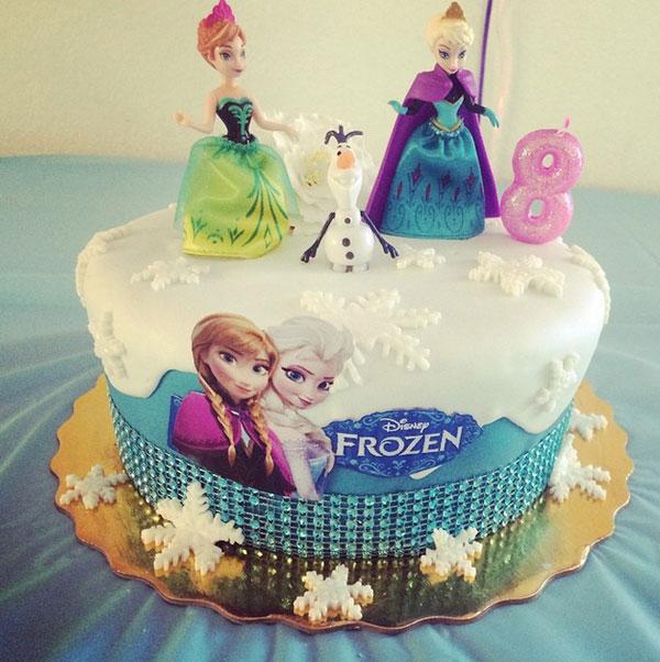 Торт в стиле Холодное сердце