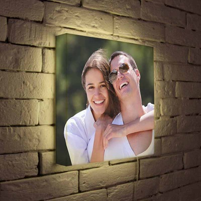 Светильник с фотографиями влюбленных