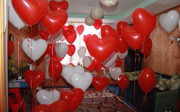 Валентинки на шарах