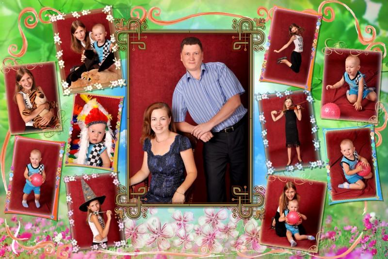 Как оформить коллаж из фотографий своими руками на тему моя семья